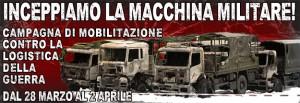 banner campagna antimilitarista
